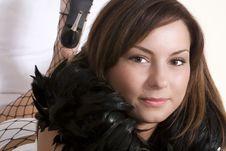 Free Boa Scarf Woman Stock Photo - 3232290