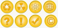 Free 8 Useful Golden Icons Stock Photos - 3232383