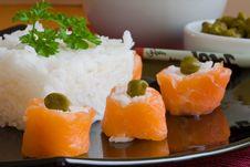 Free Salmon Sushi Stock Photo - 3232430