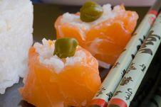 Free Salmon Sushi Stock Image - 3232551