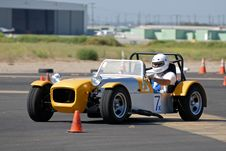 Free Lotus 7 In Autocross Royalty Free Stock Photography - 3232817