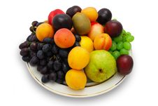 Fruits On The Plate Stock Photography