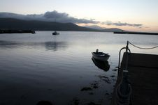 Free Sunrise Over Harbor Ireland Royalty Free Stock Images - 3233639