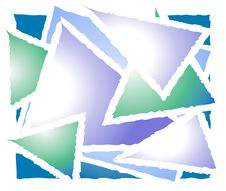 Overlapping Triangle Shapes 2 Stock Image