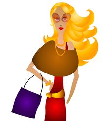 Fall Fashion Woman Shopping Royalty Free Stock Image