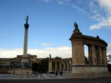 Free Heroes Square,Budapest,detail Royalty Free Stock Image - 3235636