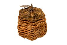 Free Wicker Box Isolated Stock Photo - 3236480