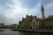 Free Tower Clock In Gent Stock Photos - 3236523