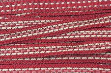Free Woven Red And White Braid Stock Photos - 3237123