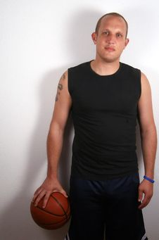 Cool Basketball Dude Royalty Free Stock Images