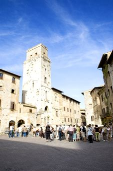 San Gimigniano Square Royalty Free Stock Photography