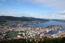 View Of Bergen Stock Image