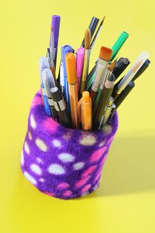 Art Tools - Brushes And Pens Stock Image