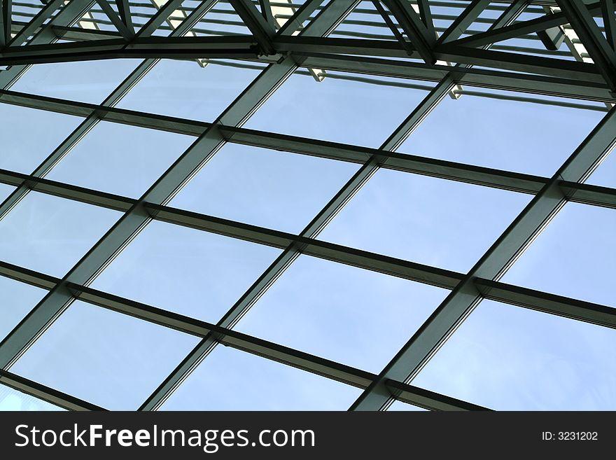Window with steel constuction