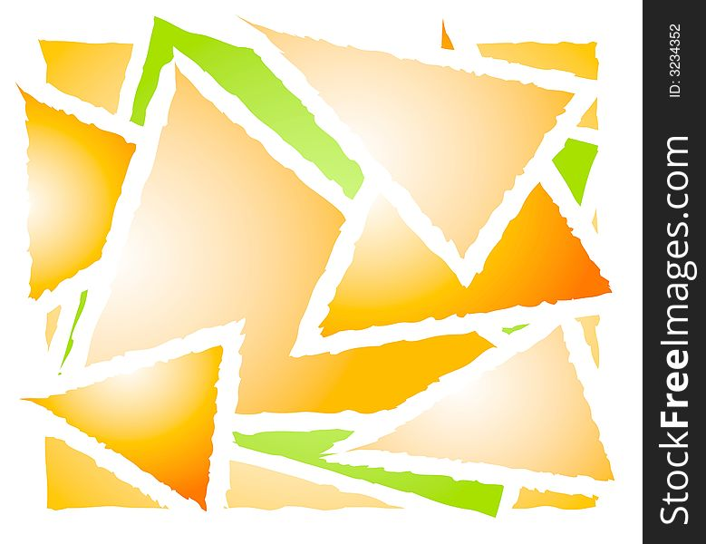 Overlapping Triangle Shapes