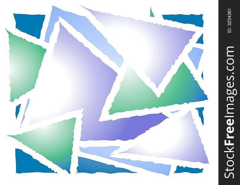 Overlapping Triangle Shapes 2