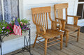 Free Wooden Chairs On Porch Royalty Free Stock Images - 32303949