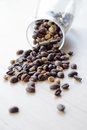 Free Coffee Beans On Table Stock Photos - 32305493
