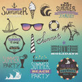 Free Summer Vintage Elements Stock Photography - 32318092
