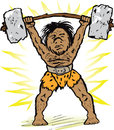 Free Caveman Weightlifter Stock Image - 32318251