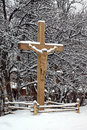 Free Wooden Carved Crucifix Stock Photo - 32323510