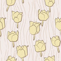 Free Seamless Pattern With Paper Tulips Royalty Free Stock Photos - 32323618