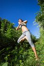 Free Young Woman Doing Yoga Outdoor Royalty Free Stock Photography - 32325217