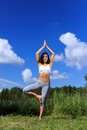 Free Young Woman Doing Yoga Outdoor Royalty Free Stock Photography - 32325297