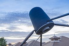 Satellite Signal Wave Receiver Dish For Television 109 Stock Image