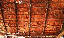 Free Tile Roof Made From Teak Leaf Stock Images - 32329334