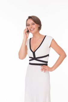 Free Business Woman With Phone Stock Photos - 32333003