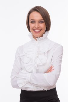 Free Businesswoman On White Royalty Free Stock Images - 32333029