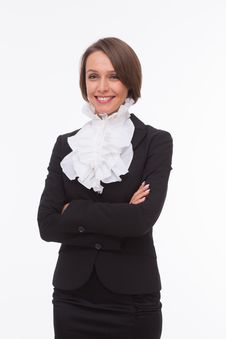 Free Businesswoman On White Royalty Free Stock Image - 32333056
