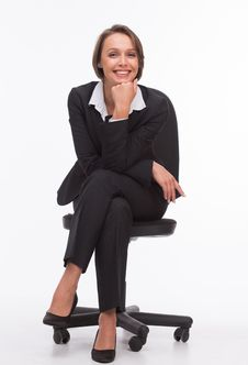 Free Businesswoman Sit On Chair Royalty Free Stock Photography - 32333167