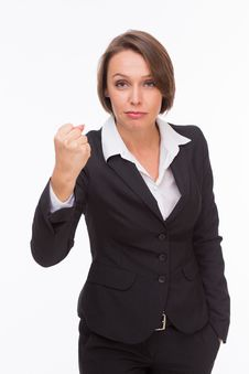 Free Business Woman Ready For Competition And Fight Stock Photos - 32333223