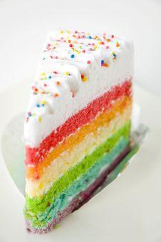 Close Up Rainbow Cake Stock Images