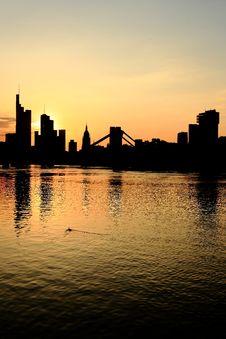 Free Frankfurt Silhouette Stock Photos - 32335723