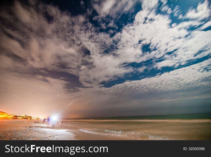 Night Scenes At The Florida Beach