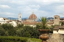 View On Florence From Pitti Palace Stock Photos