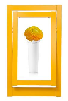 Free Colorful Frame And Vase Royalty Free Stock Photos - 32350988