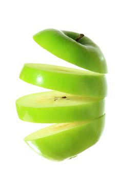 Free Greean Apple Sliced Royalty Free Stock Image - 32351146