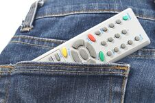 Free Remote Control In Jean S Pocket Stock Photos - 32352313