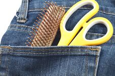Free Hair Cut Tool In Jean S Pocket Royalty Free Stock Image - 32352326