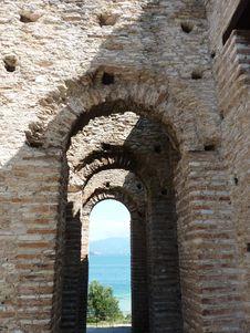 Grotto Di Catullo, Sermione, Italy Royalty Free Stock Photo