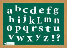 The English Alphabet Stock Photos