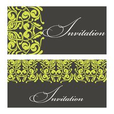 Free Set Of Invitations Royalty Free Stock Images - 32359869