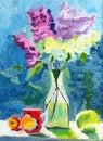 Free Lilac On The Windowsill Royalty Free Stock Photos - 32361148