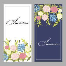 Free Set Of Invitations Royalty Free Stock Photo - 32360005