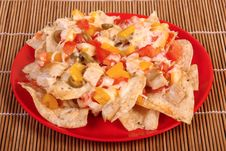 Free Cheese And Chicken Nachos Royalty Free Stock Images - 32363619