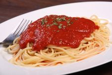 Free Tomato Sauce Spaghetti Stock Photos - 32363823